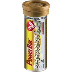 PowerBar 14 Electrolytes Zero Calorie Sports Drink Tabs 10 Pieces Lemon Tonic Boost with Caffeine